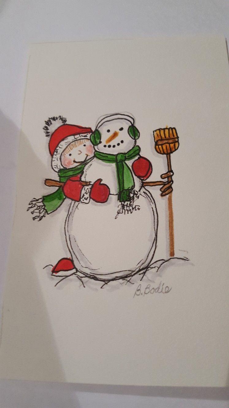 Pin Von Gloria Rossiter Auf Karten Weihnachten Karten Weihnachten Malen