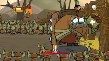 hilarious boss fight from castle crashers!