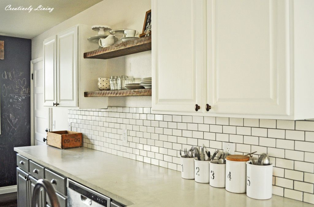 Concrete Countertop Overlay White Kitchen Makeover Kitchen