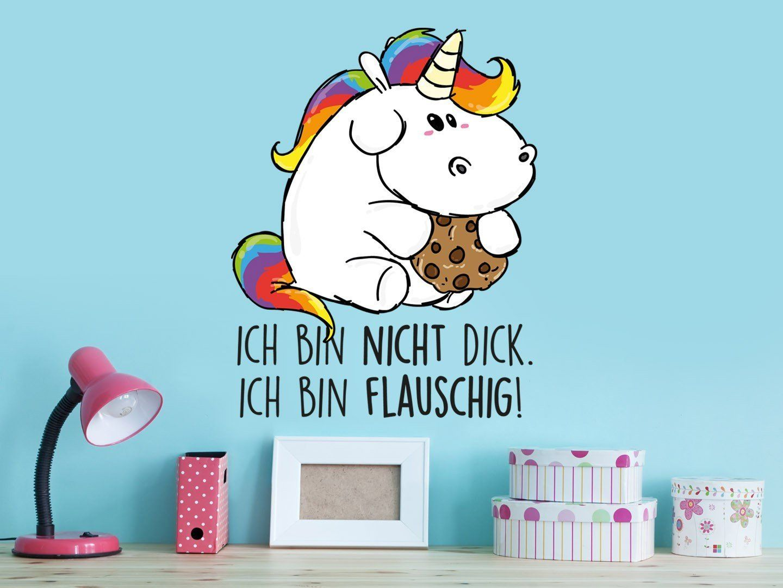 Bezaubernd Wandtattoo Einhorn Ideen Von Kinderzimmer: Unicorn   Ich Bin Nicht Dick,