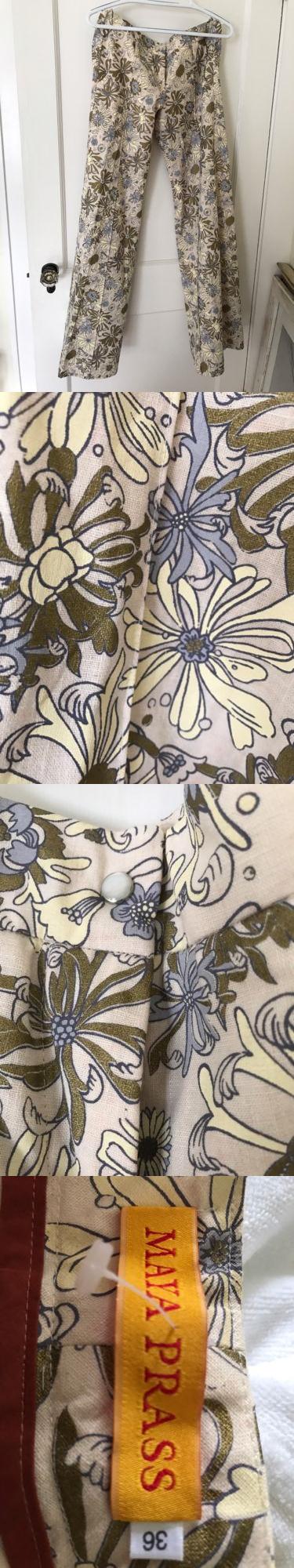 Shirts Tops 50990: Maya Prass Designer Women S Slacks, Size 36, Length 42 From Waistband To Floor -> BUY IT NOW ONLY: $115 on eBay!