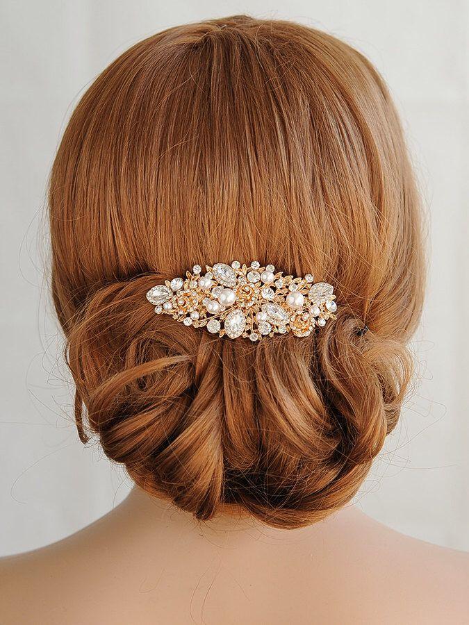 Elegant Wedding Hairstyles $55 On Etsy Rose Gold Wedding Hair Combso Elegant Looks