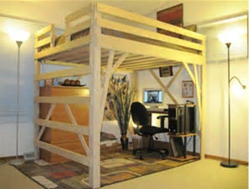 Perfect Image Result For Loft With Desk Queen Bed Frame