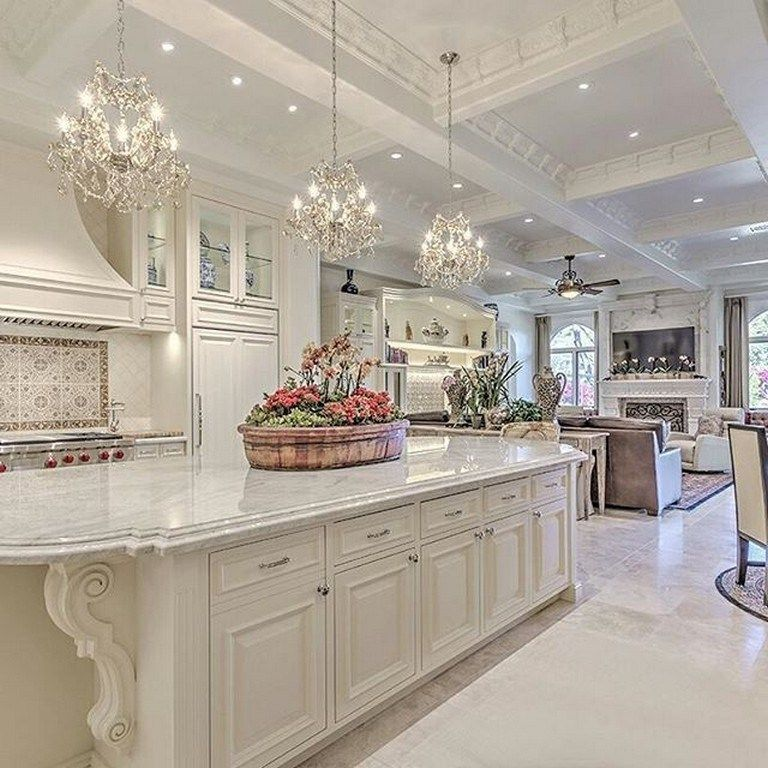 65 Best White Kitchen Design Ideas For White Cabinets 1