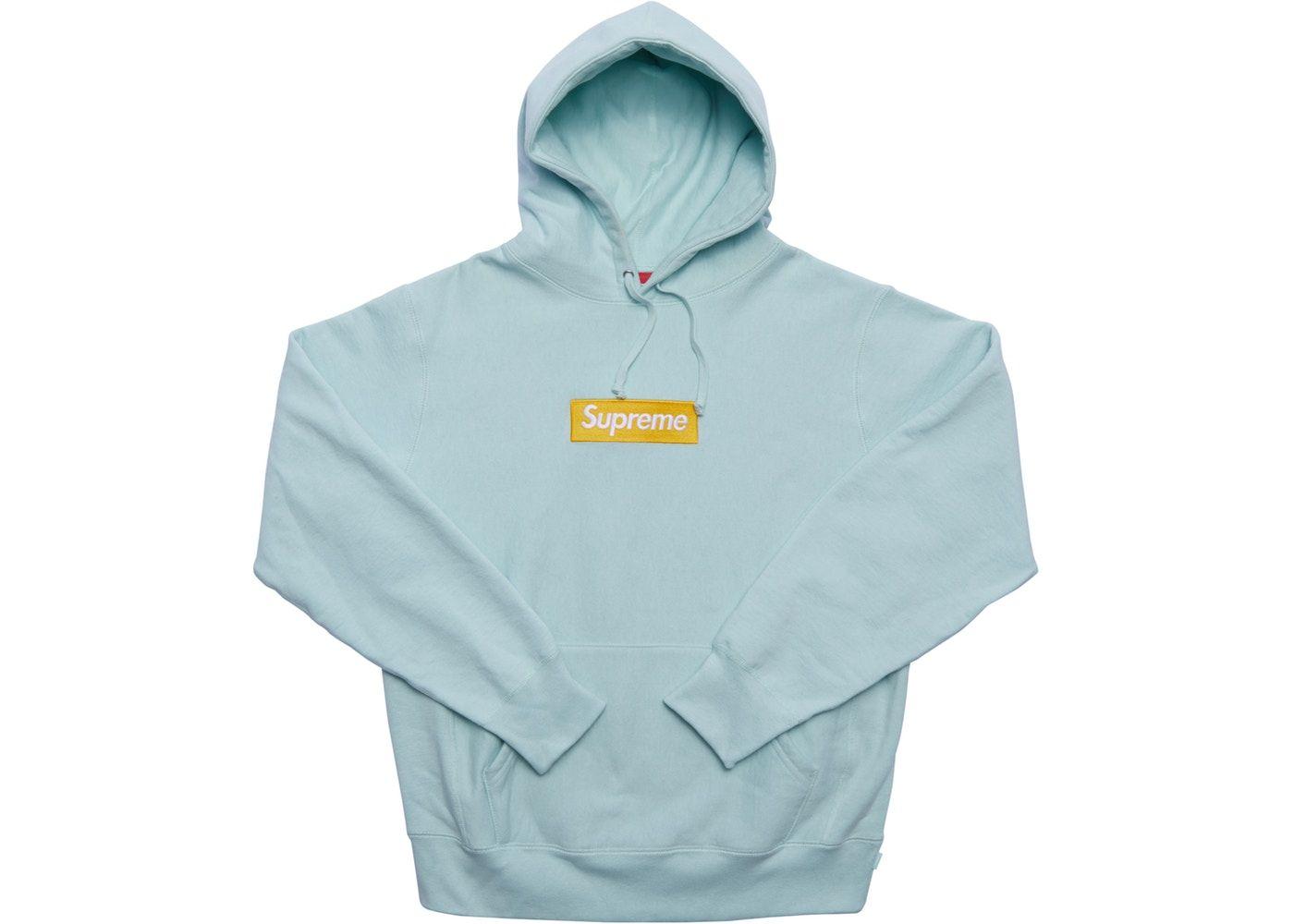 Supreme Box Logo Hooded Sweatshirt Fw17 Ice Blue In 2021 Hooded Sweatshirts Supreme Hoodie Sweatshirts [ 1000 x 1400 Pixel ]