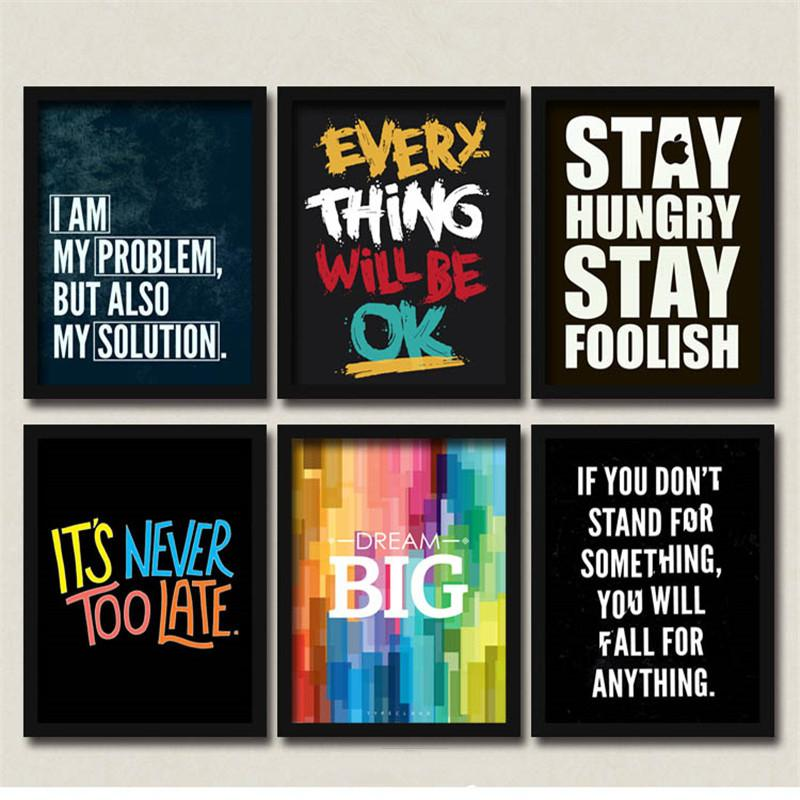 Modern Simple Colorful Quote English Letters Classroom Office Art