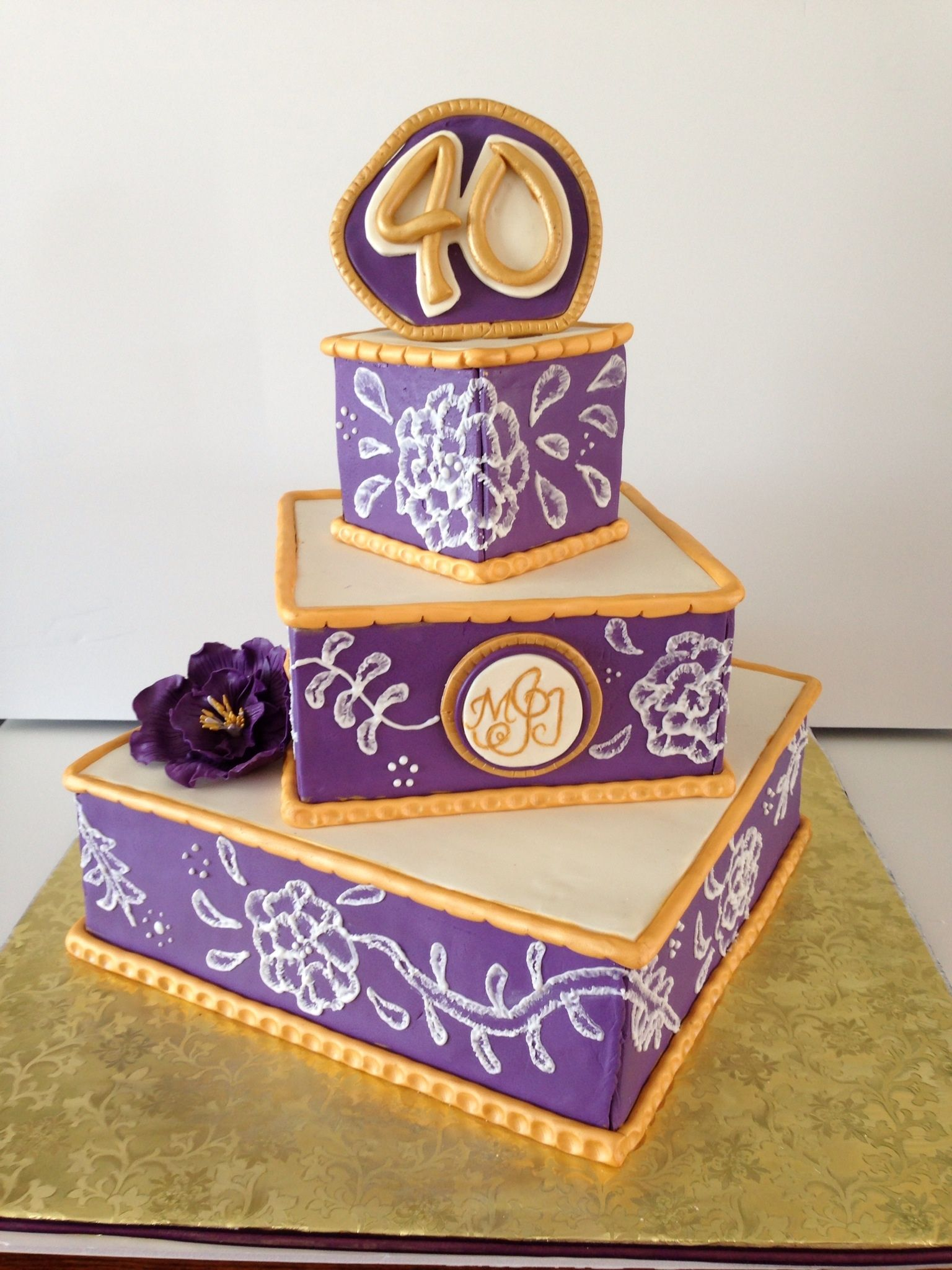 Decoration ideas for 40th wedding anniversary  th Wedding Anniversay  I made this for my inlaws anniversary I