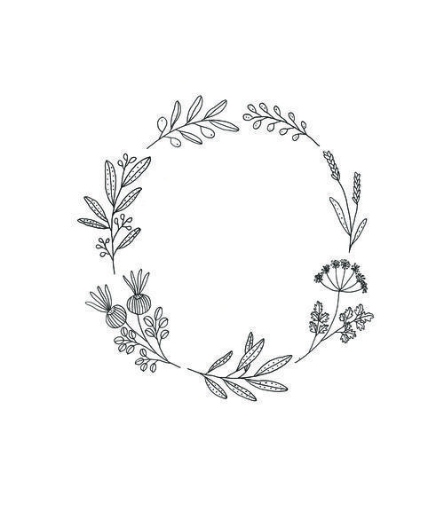 wreath and laurel art  qavee  TRAVELERS NOTEBOOK  Wreath tattoo Wreath drawing Tattoos