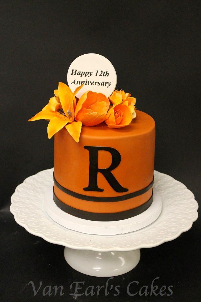 Van Earl S Cakes Happy 12th Wedding Anniversary Cake Wedding