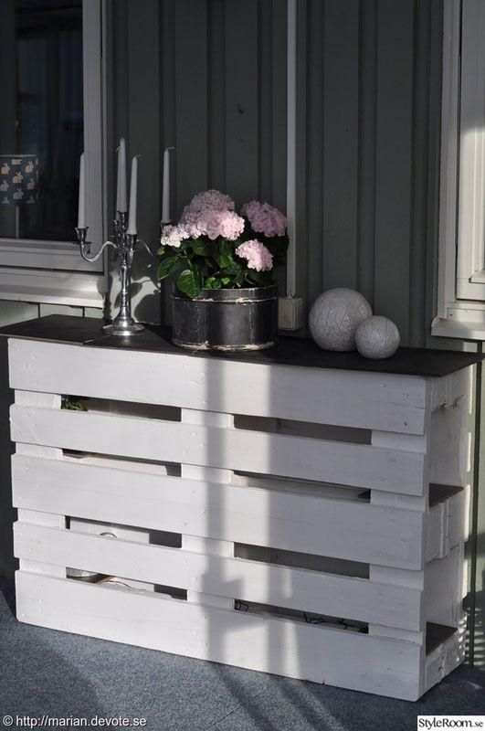 comptoir ou une table haute avec deux palettes 2 palette palettes en bois et am nagement. Black Bedroom Furniture Sets. Home Design Ideas