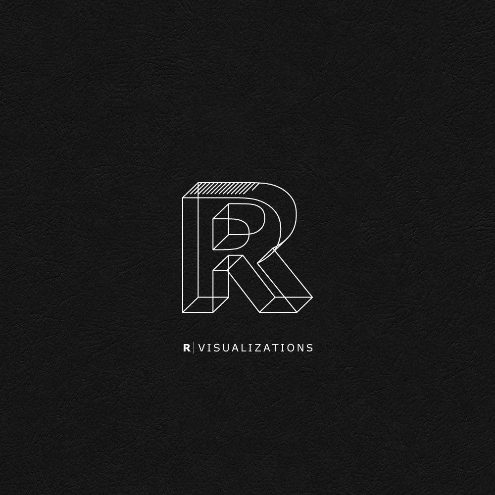 Logo Challenge 7 R Visualizations ロゴデザイン 名刺 デザイン