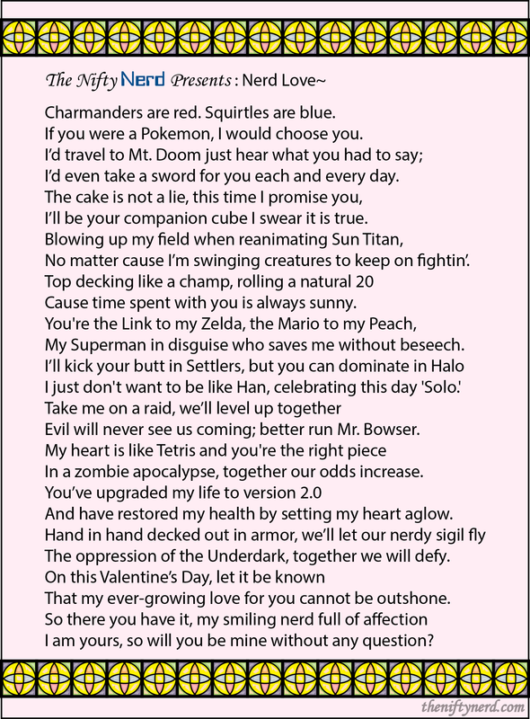 Nerdy Love Poem For Valentine S Day Or An Anniversary Nerdy