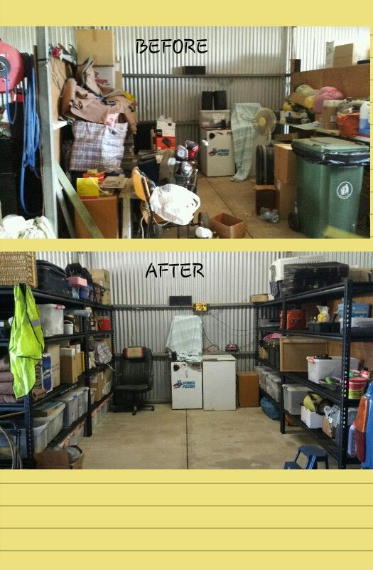 Organizing Before And After: Shed Organization. Before And After