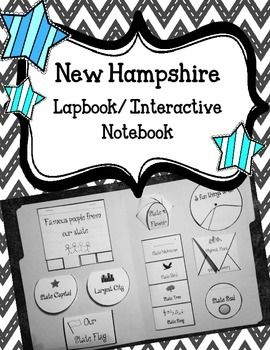 New Hampshire Lapbook/Interactive NotebookYour students will enjoy creating these fun, interactive State Interactive Notebooks!These lapbooks can be used in multiple ways. Your students can enjoy all making the same state lap book or they can created different state's lap books and share them with their classmates!This lap books is not only fun but also very systematic.