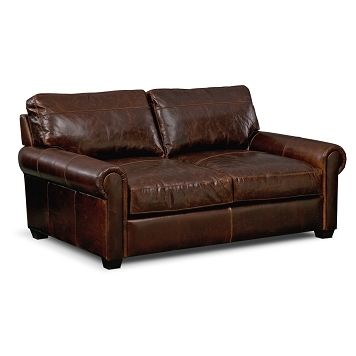Pullman Leather Apartment Sofa | Furniture.com $1,329.99