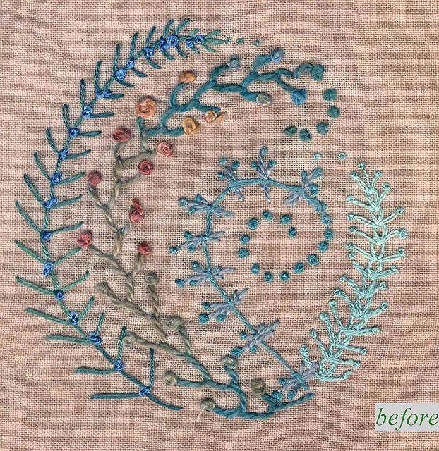 Colores de las ramas / tonos azul gris | todos los bordados ...