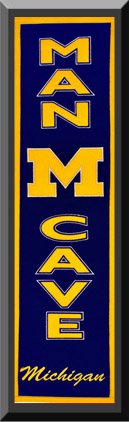Heritage MAN CAVE Banner Of Michigan Wolverines -Framed Awesome & Beautiful-Must For A Championship Team Fan! Most College Team Banners Available-Plz Go Through Description & Mention In Gift Message If Need A different Team Art and More, Davenport, IA http://www.amazon.com/dp/B00KYPMLHQ/ref=cm_sw_r_pi_dp_dtbEub1YSAPSF