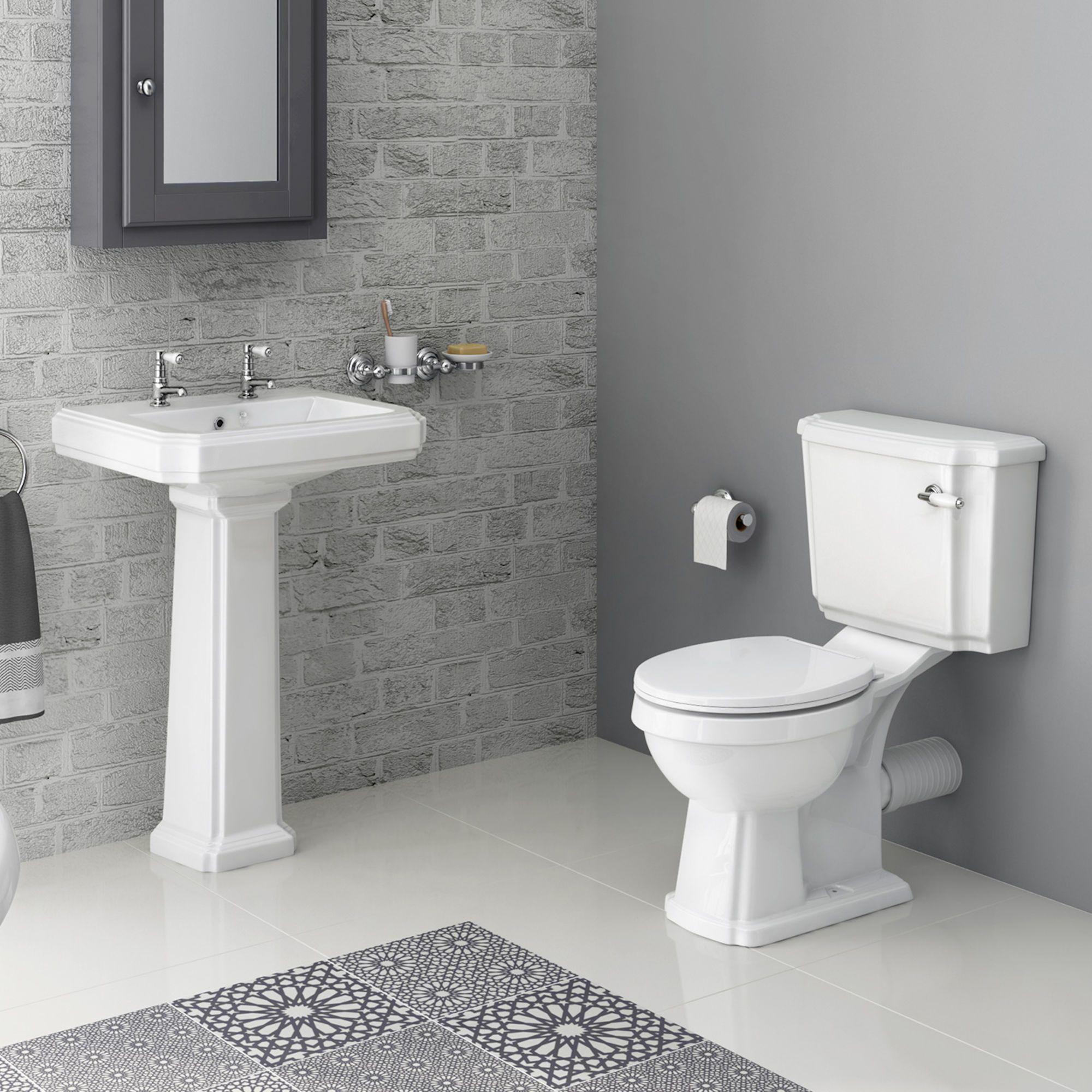 Georgia Ii Traditional Close Coupled Toilet Double Tap Hole Basin Set Banos