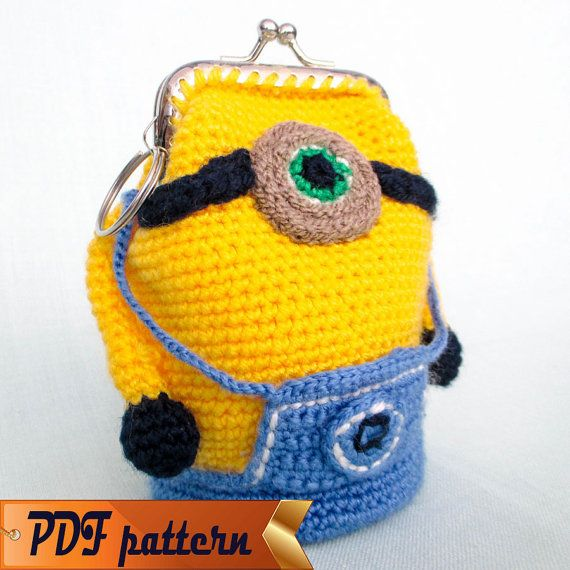 Amigurumi Crochet Pattern Purse Minion Crochet Purse Pattern Easy