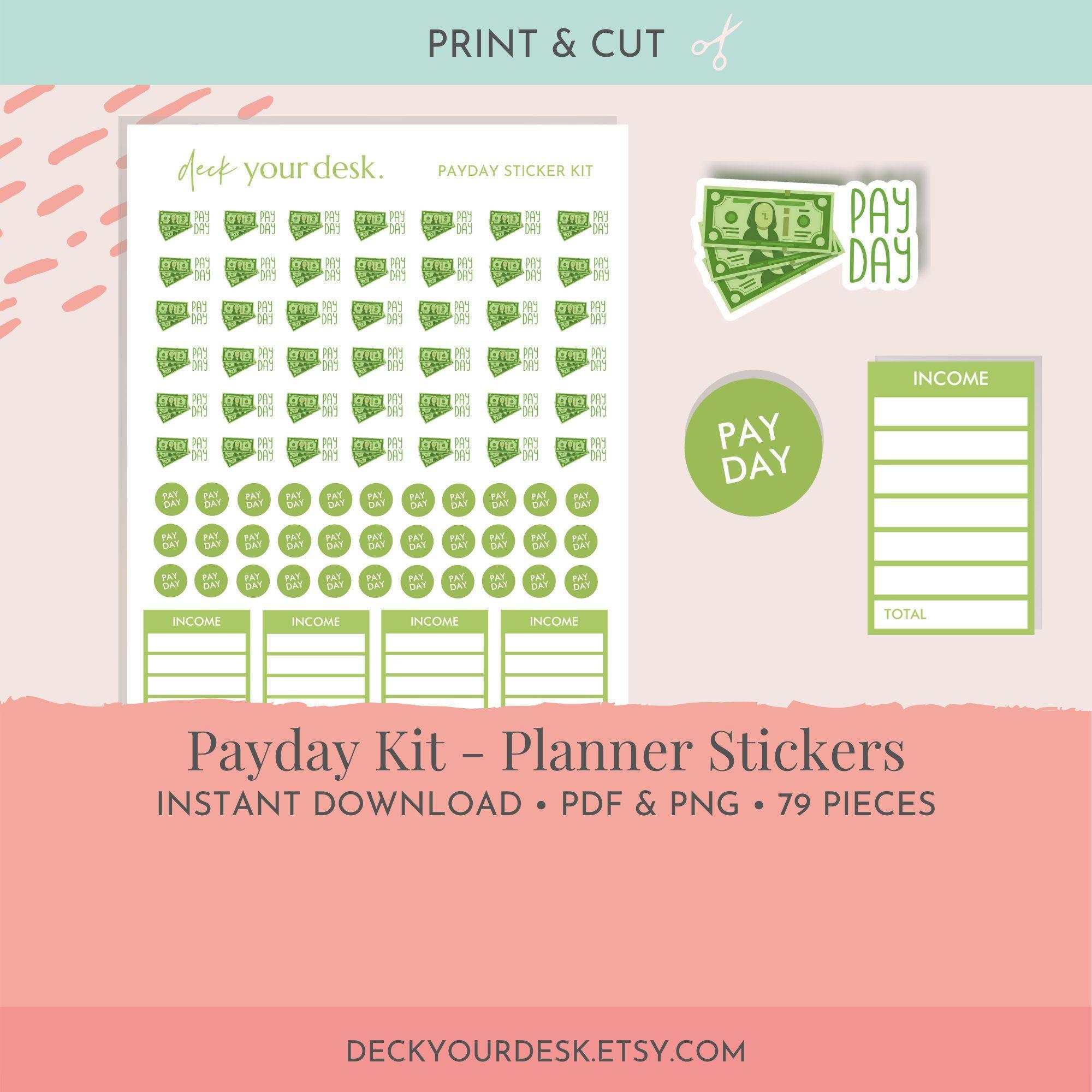 payday sticker// money stickers Planner stickers// budget stickers// financial