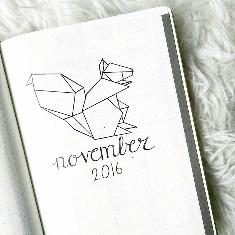 "@lynniewinny on Instagram: ""November is almost there & I kept the geometric animal theme. #bulletjournal #bujo #bulletjournaling #bulletjournaljunkies…"""