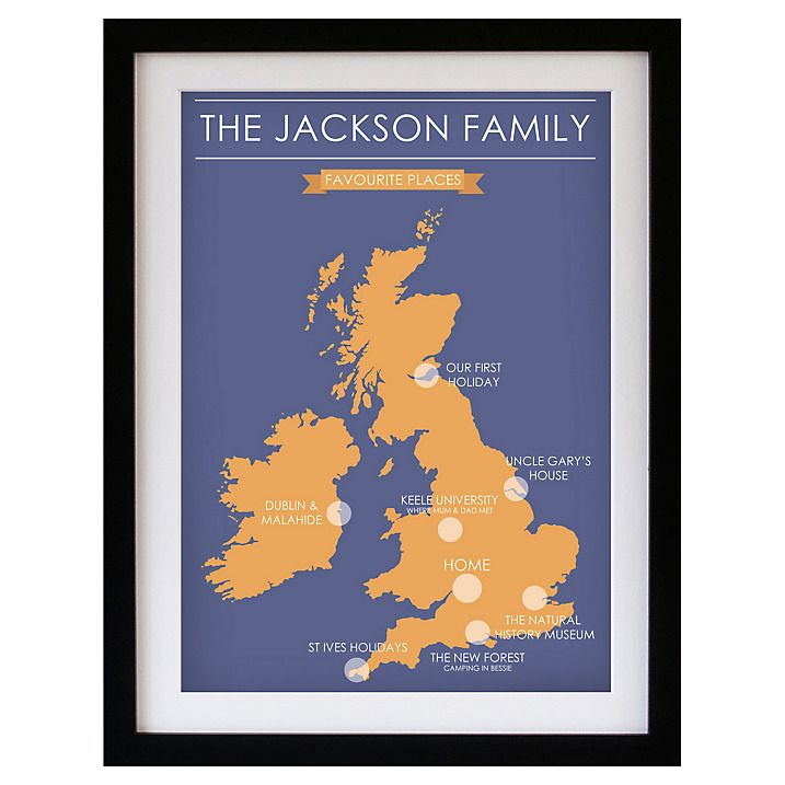 Buy betsy benn favourite place map framed print blue orange 487 buy betsy benn favourite place map framed print blue orange 487 x 377 gumiabroncs Choice Image