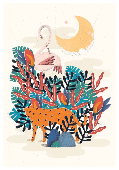 wrapmagazine:  Beautiful work by Polish illustrator Martyna Wojcik – we especially love her use of grainy textures and soft colour palettes, which this image for the cover of Errrratum shows off perfectly. See more at  martynawojcik.tumblr.com