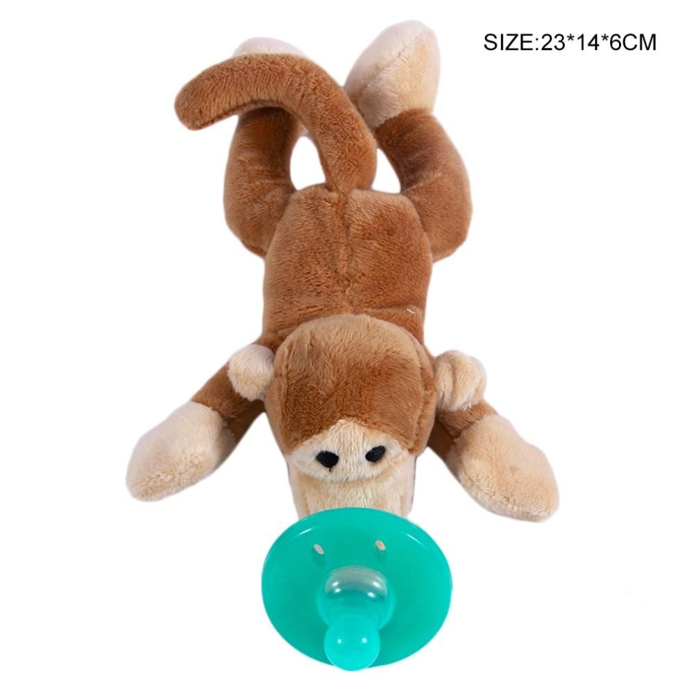 Pacifier With Soft Plush Animal Toy Pet Toys Plush Animals