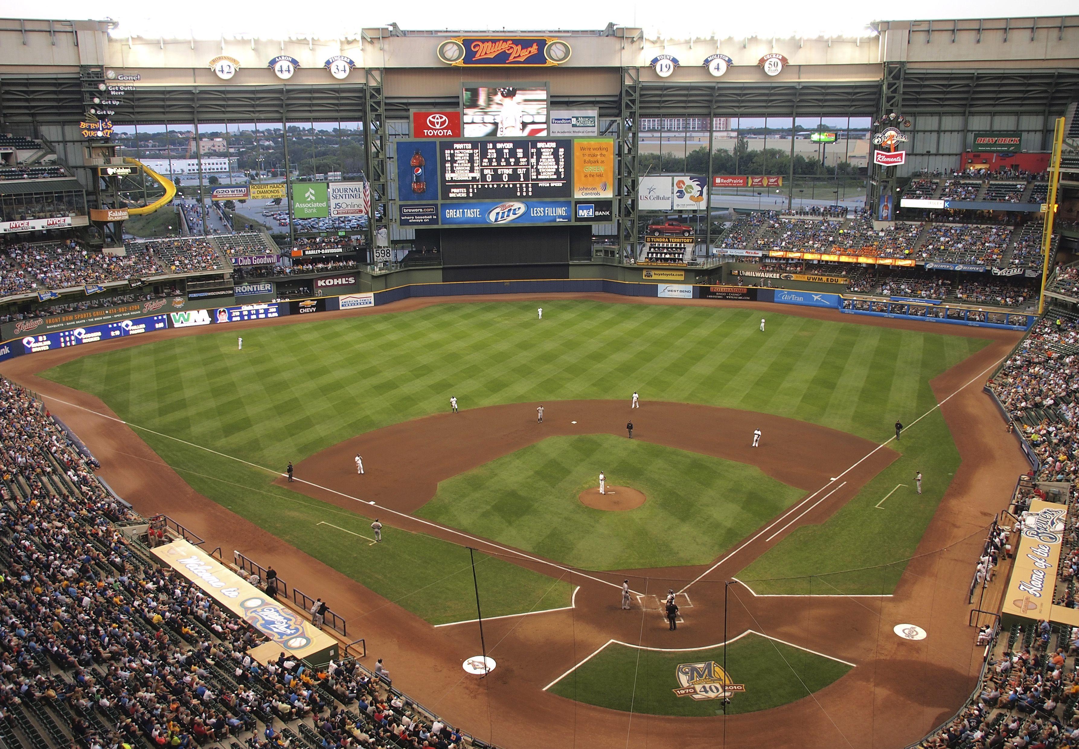 Milwaukee Brewers Bedroom In A Box Major League Baseball: Miller Park Milwaukee, Wisconsin