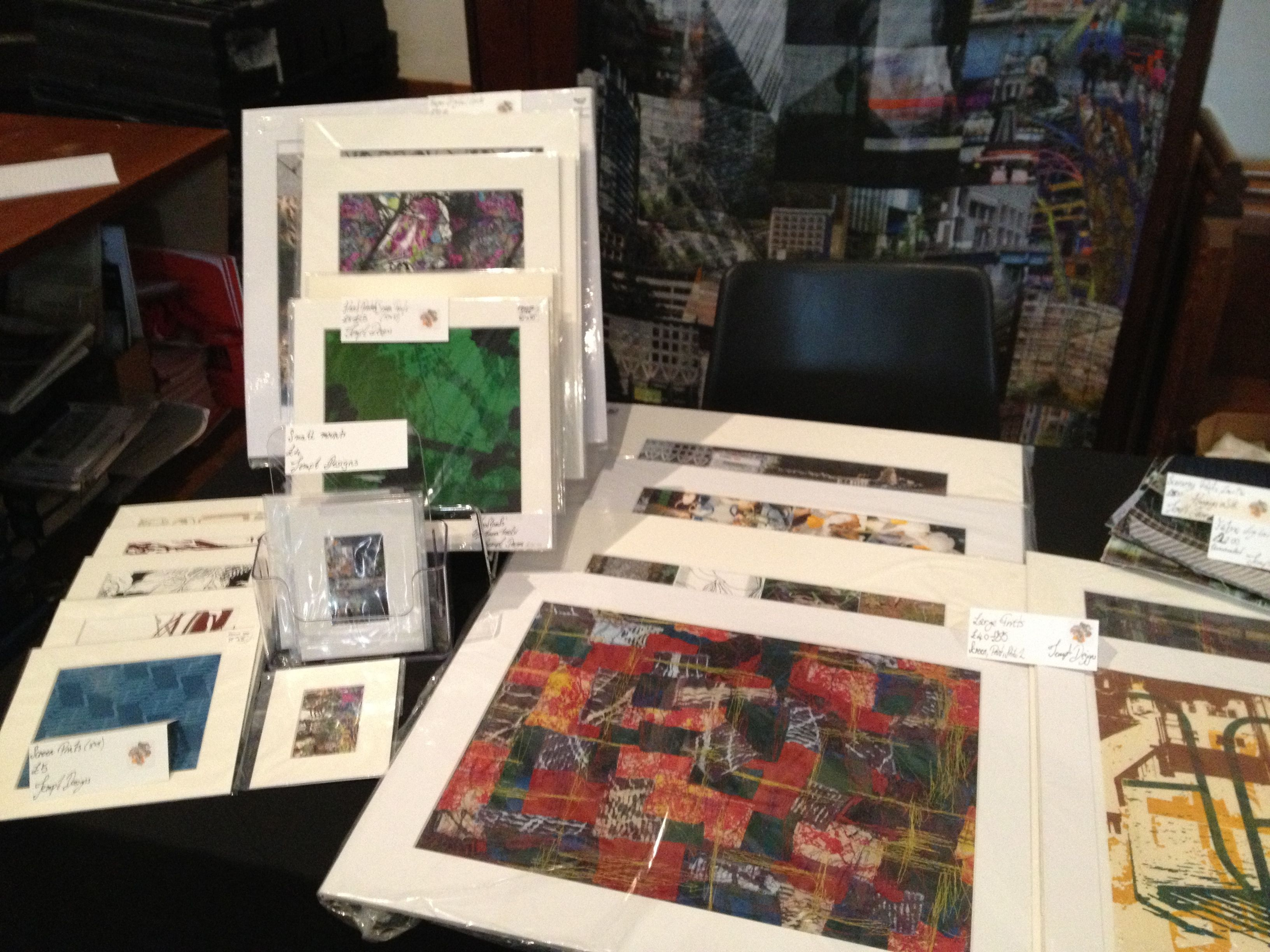 My work for sale;  www.temptdesigns.co.uk