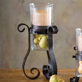 Use This Piece On Its Own Or Paired With Other Accessories Beautiful Wrought Iron Hurricane Candle Holder Is Sure To Bring Old World Charm Your