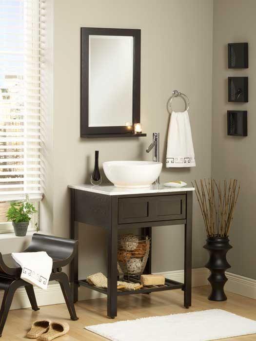 what's the standard depth of a bathroom vanity? | bathroom