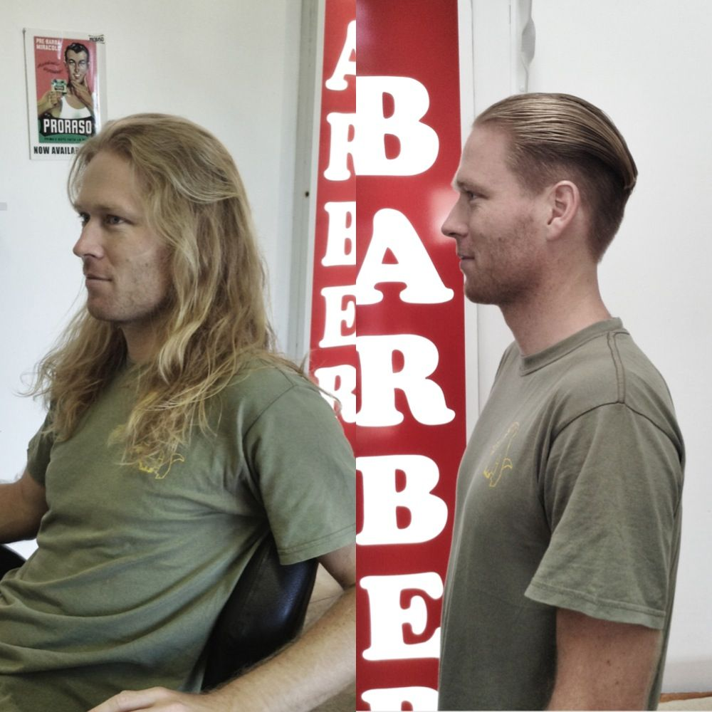 Haircut by Byron bay barber, Jack the SNIPPER.. Slick. Style ...