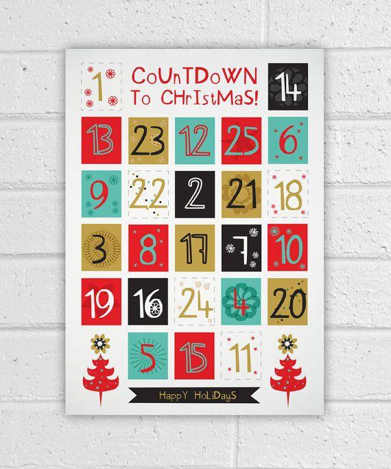 Diy Advent Calendar Printables : Printable advent calendar holiday diy christmas countdown