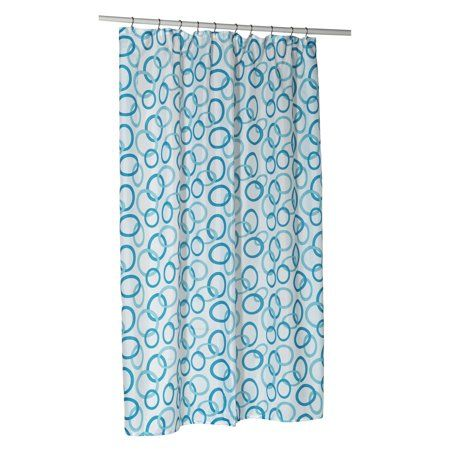 Circles Extra Long Polyester Shower Curtain Liner Multicolor