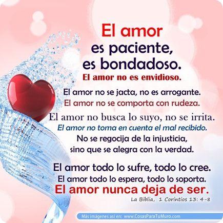1 Corintios 13 4 8 Con Imagenes El Amor Es Paciente Oracion