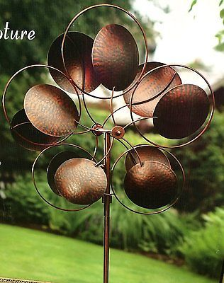 Lovely Style Craft Garden Accents Metal Kinetic Wind Sculpture Wind Catcher BRAND  NEW