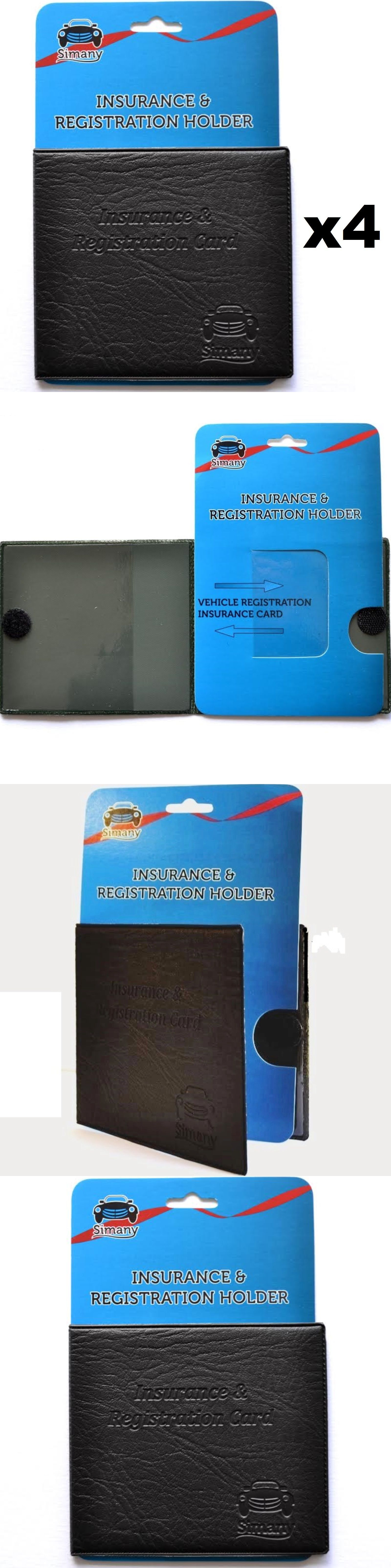 Driver License Slim Thin Leather Wallet Holder Auto Car Insurance Registration