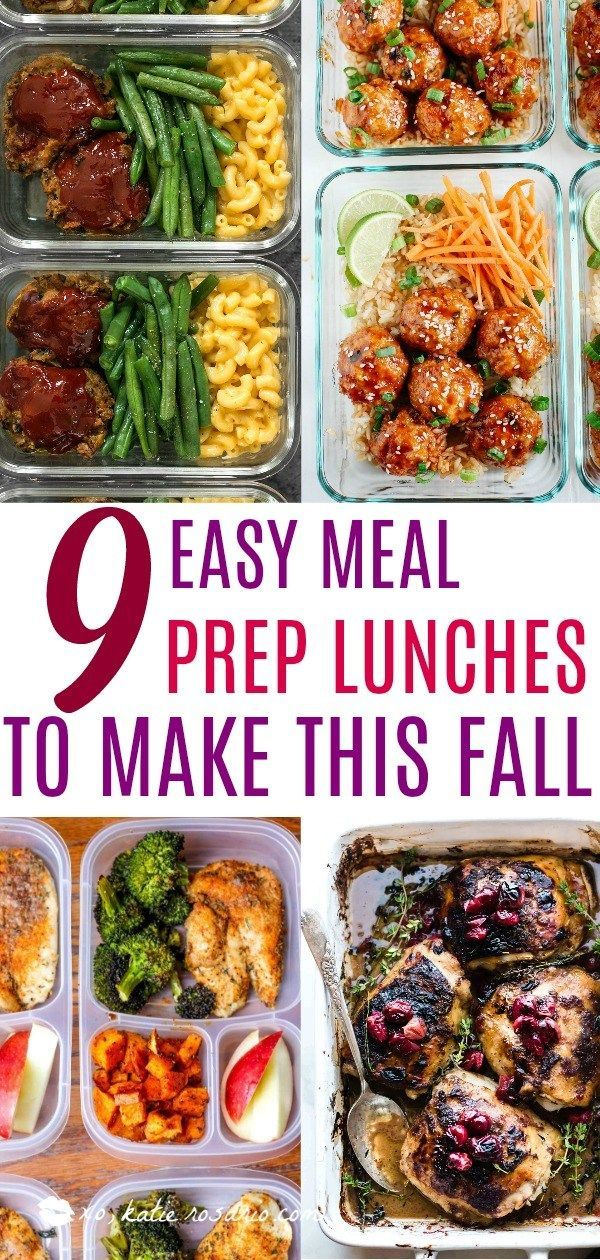 9 Easy Meal Prep Lunches to Make This Fall