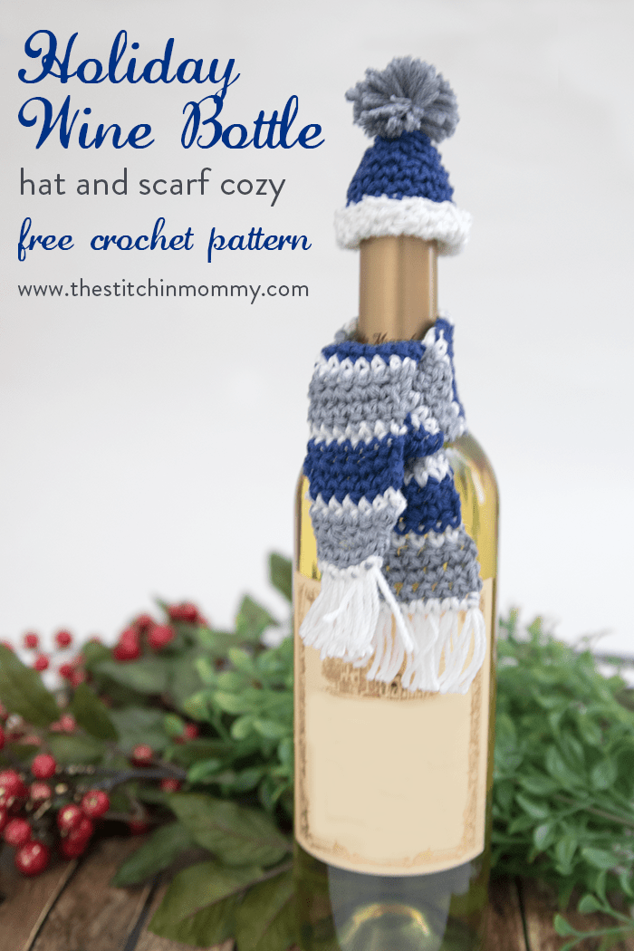 Holiday Wine Bottle Hat and Scarf Cozy - Free Crochet Pattern ...