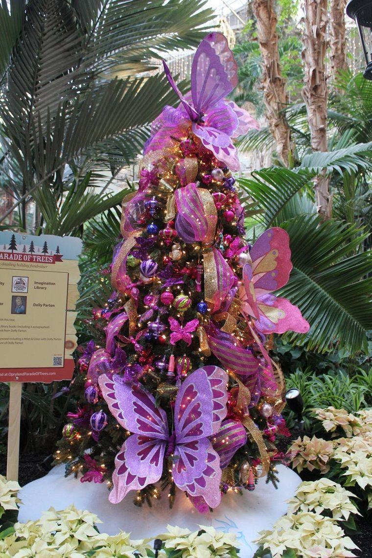 mariposa de color purpura para el rbol de navidad