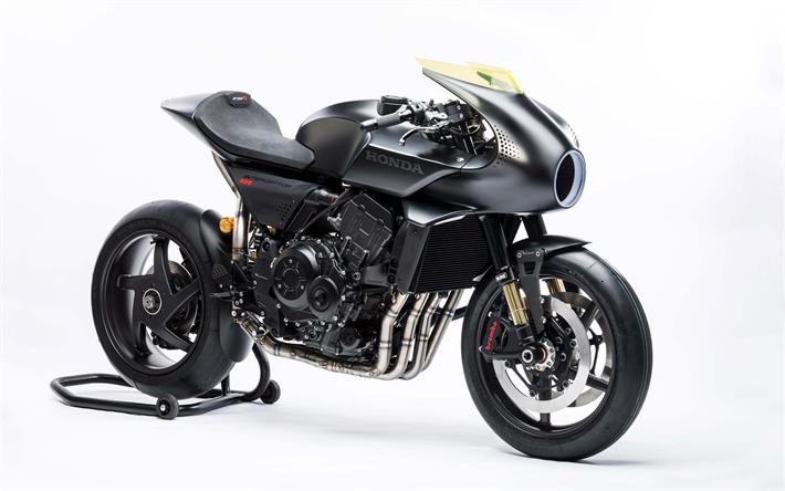 Download Wallpapers 4k Honda CB4 Interceptor Cafe Racer 2018