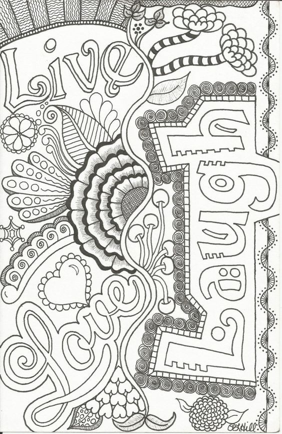 Live, Laugh, Love | Coloring pages | Pinterest | Adult coloring ...