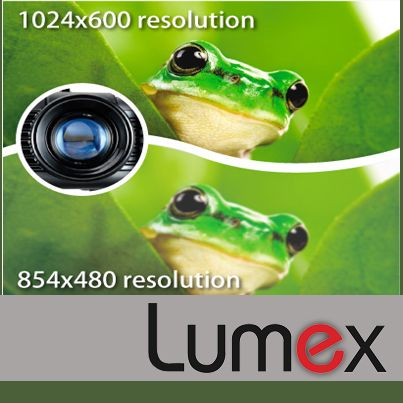 Let your presentation reflect the hard work that you put into your presentation with the resolution options of Lumex Projectors.