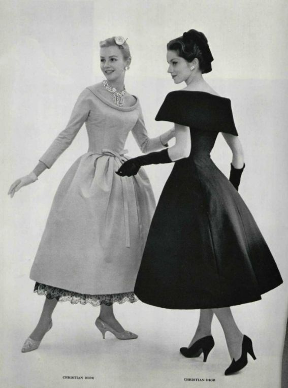 Cocktail dress fashions by Dior, 1957. | photos, 1940s-1950s ...