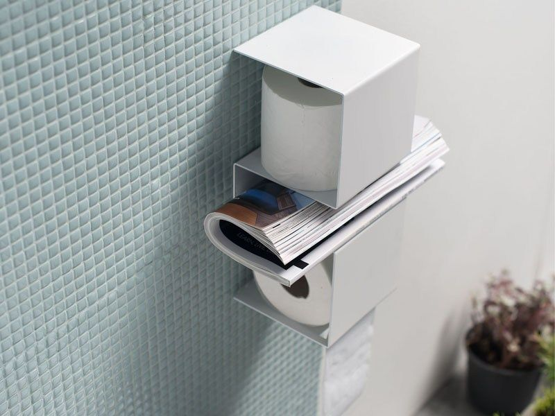 Stainless Steel Toilet Roll Holder Inteam By Ex T Design Ariane Marz Toilet Paper Toilet Roll Holder Toilet Paper Holder