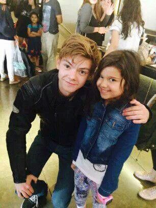 Thomas and a child fan. How cute!!