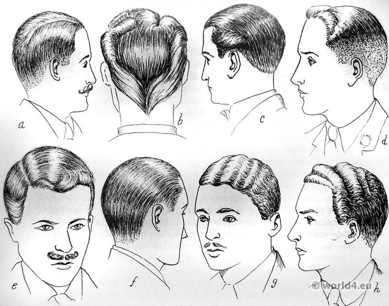 Mens Hair Of The 30 S Any Of These Options Are Fine 1930s Hair Vintage Hairstyles 1930s Men