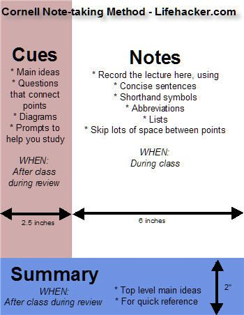Geek to Live Take study-worthy lecture notes Cornell notes - cornell note taking template