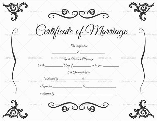 Printable Marriage Certificates Template Kubreforic